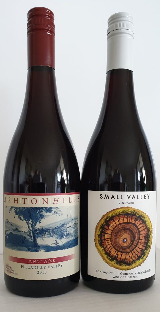 December 2019 releases: 2018 Ashton Hills Piccadilly Valley Pinot Noir $35 & 2017 Small Valley Pinot Noir $35