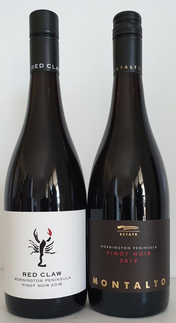 January 2020 Releases: 2018 Red Claw Pinot Noir $30 & 2018 Montalto Estate Pinot Noir $50