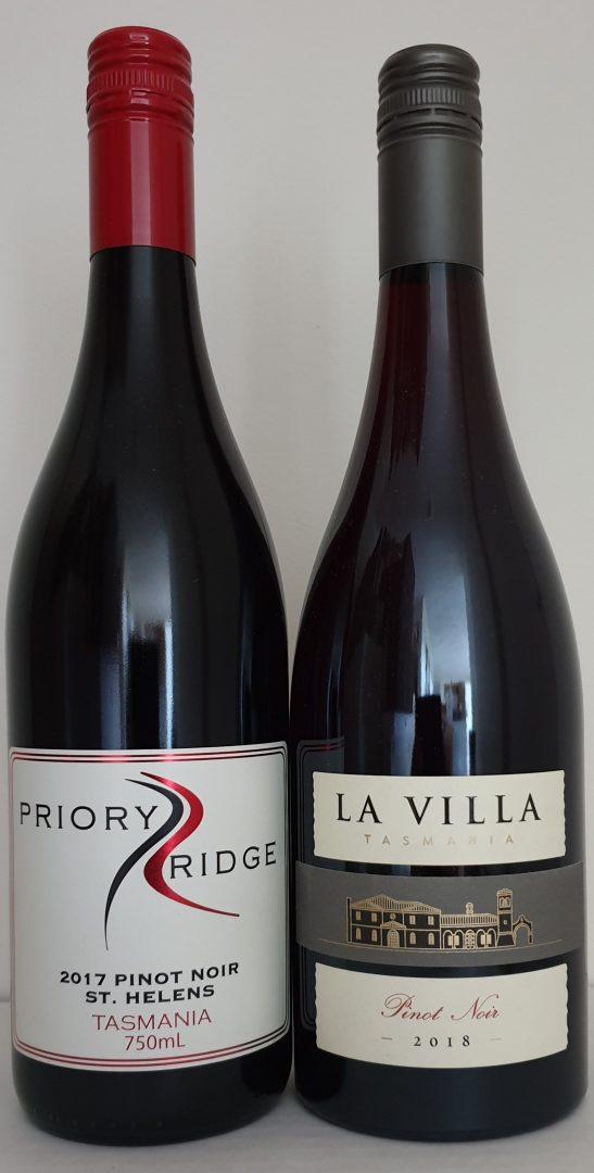February 2020 Releases: 2017 Priory Ridge Pinot Noir $39 & 2018 La Villa Pinot Noir $42