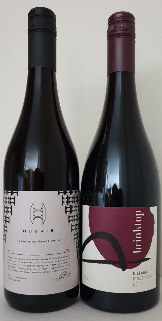 May 2020 Releases: 2017 Hubris Pinot Noir $42 & 2017 Brinktop Killara Pinot Noir $45