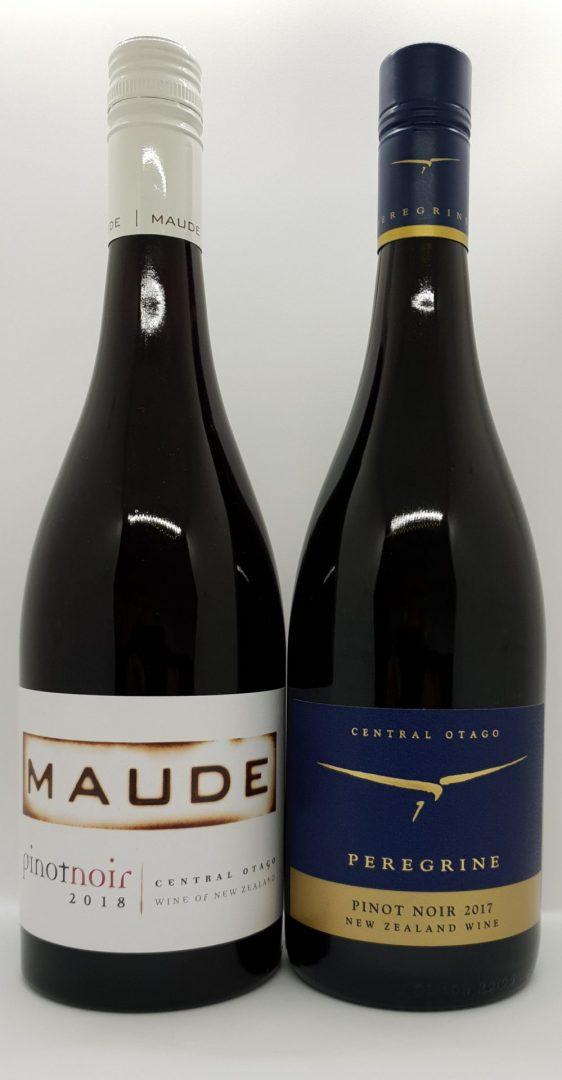2017 Peregrine Pinot Noir $48 & 2018 Maude Pinot Noir $42