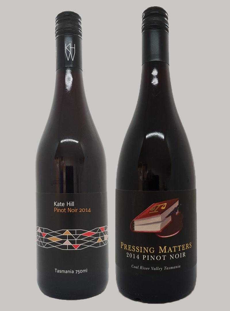 2014 Kate Hill Pinot Noir $36 & 2014 Pressing Matters Pinot Noir $56