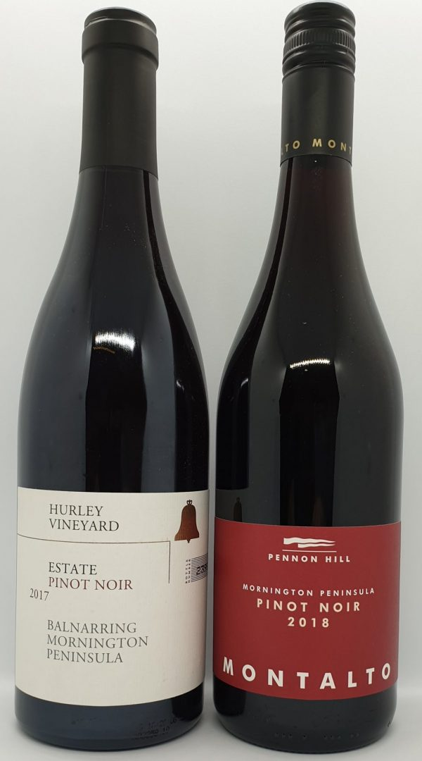 July 2020 Releases: 1 x bottle 2017 Hurley Vineyard Estate $45 & 1 x bottle of 2018 Montalto Pennon Hill $35