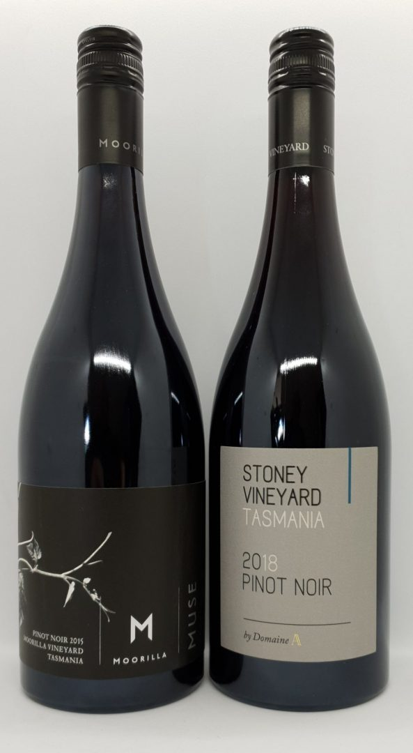 August 2020 Releases: 2015 Moorilla Muse Pinot Noir $60 & 2018 Stoney Vineyard Pinot Noir $35