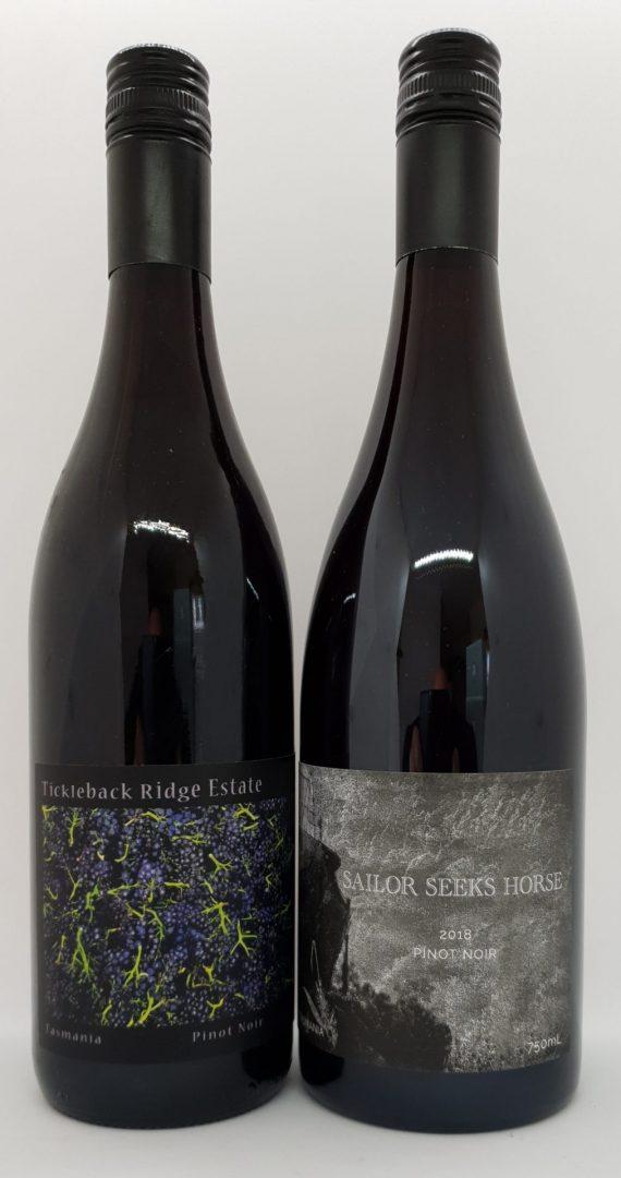 October 2020 Releases: 1 x 2013 Tickleback Ridge Pinot Noir $30 & 1 x 2018 Sailor Seeks Horse Pinot Noir $55