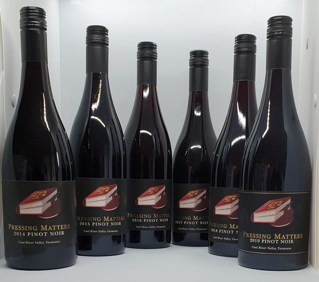 Pressing Matters Pinot Noir Vertical 6 pack (2014 - 2019)
