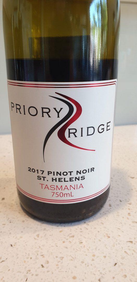 2017 Priory Ridge Pinot Noir $39