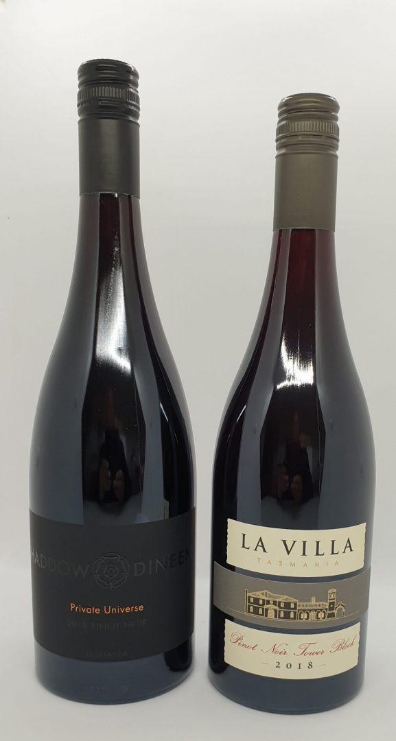 2018 Haddow & Dineen Private Universe Pinot Noir $48 & 2018 La Villa Tower Block $48
