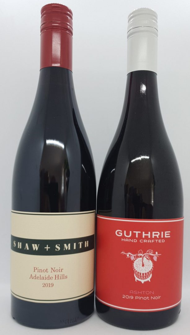 March 2021 Releases: Shaw + Smith 2019 Adelaide Hills Pinot Noir $49 & Guthrie Ashton Pinot Noir $30