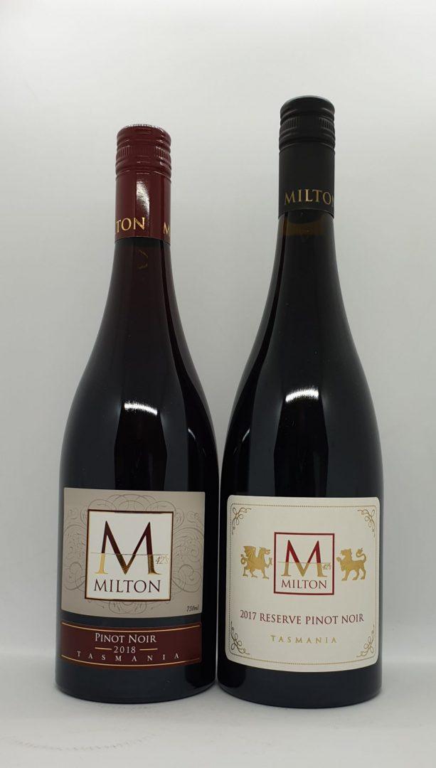April 2021 Releases: 2018 Milton Pinot Noir $38 & 2017 Milton Reserve Pinot Noir $58