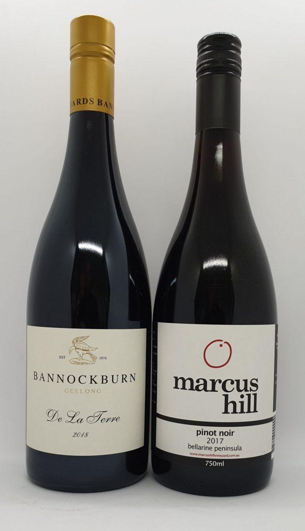 May 2021 Releases: Bannockburn De La Terre 2018 Pinot Noir $67& Marcus Hill Vineyard 2017 Pinot Noir $35