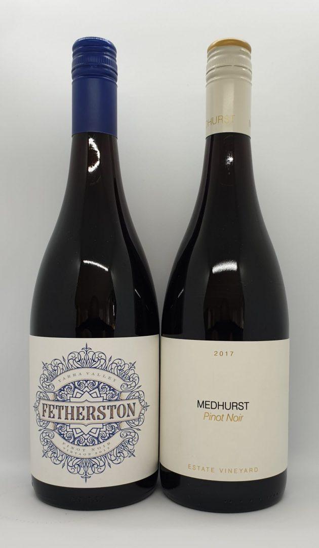 July 2021 Releases: Fetherston 2017 Pinot Noir $38 & Medhurst 2017 Estate Vineyard Pinot Noir $50