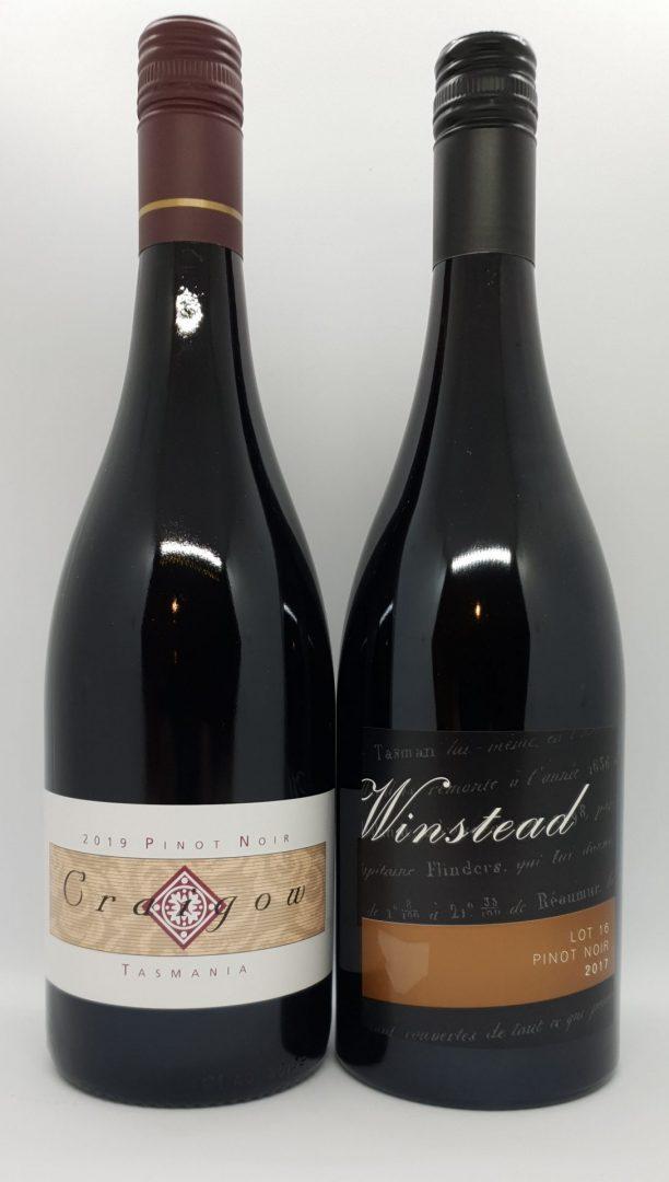September 2021 Releases: Craigow 2019 Pinot Noir $50 & Winstead LOT 16 Pinot Noir 2017 $42
